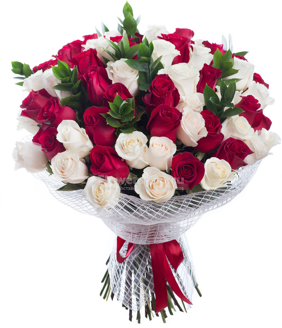 BOUQUET OF 61 ROSES at the price 6590 - efficient delivery of ...